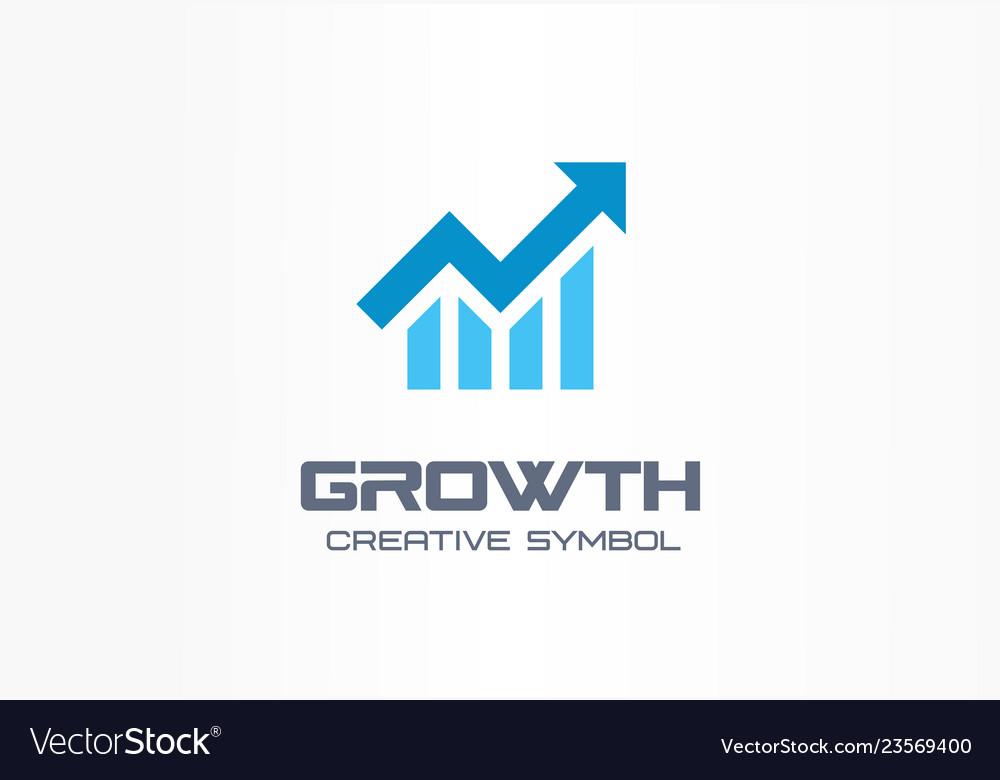 Growth creative symbol concept increase bank