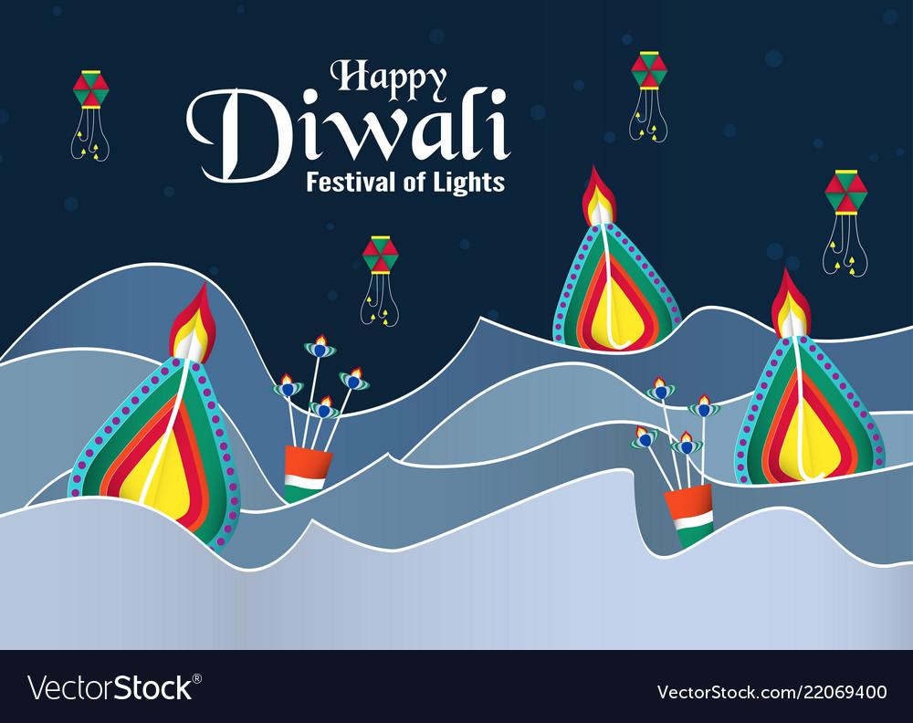 Invitation background for diwali festival of