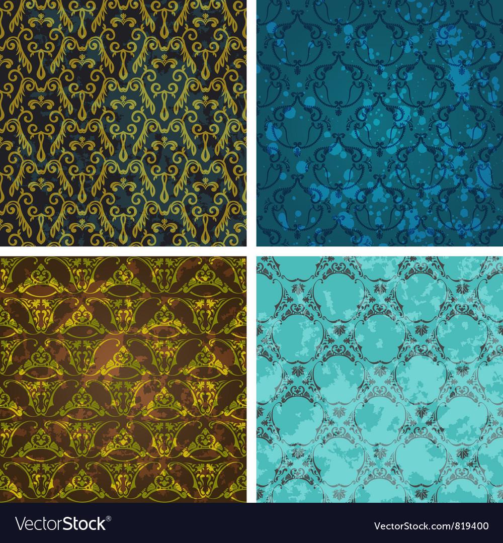 Retro style wallpaper vector image