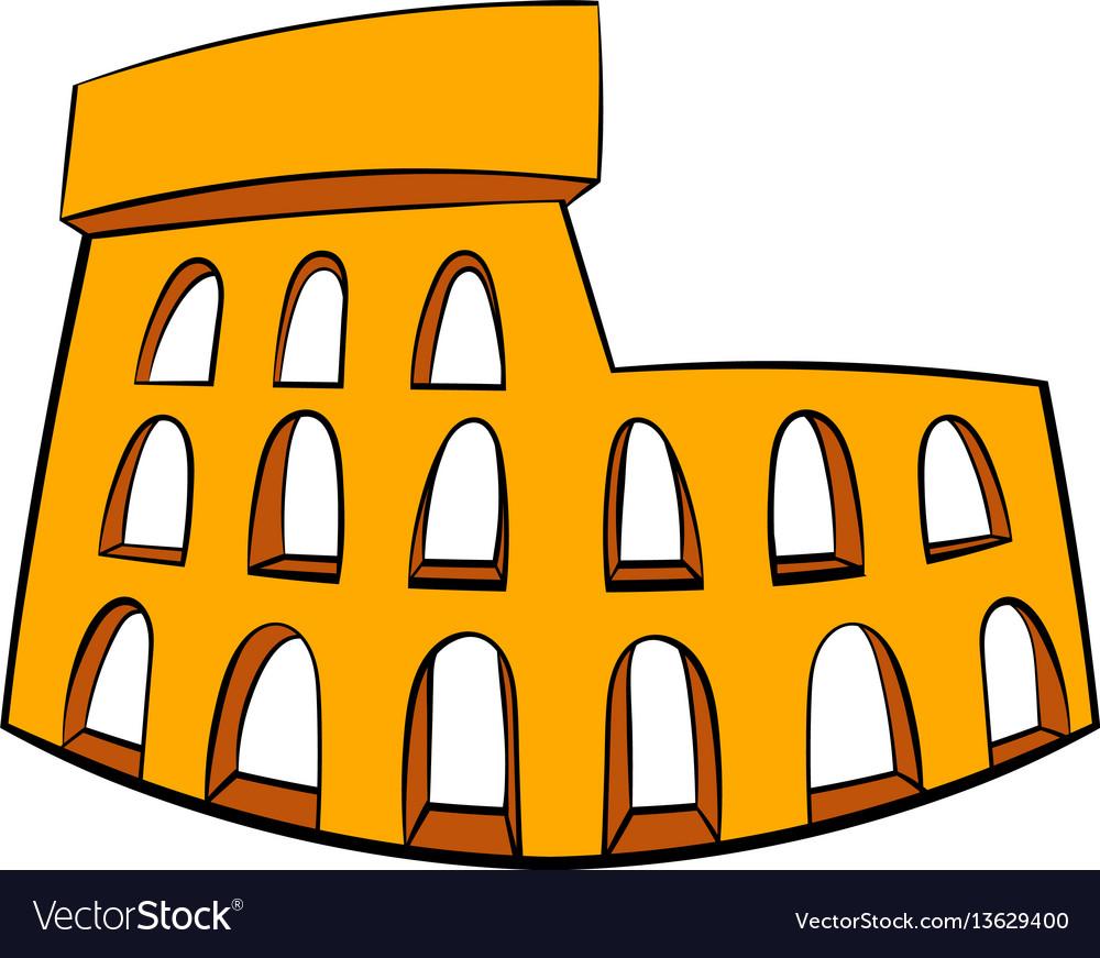 Roman colosseum icon cartoon