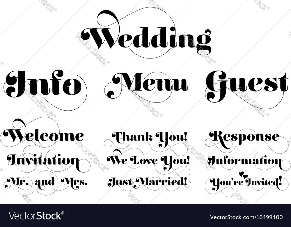 Wedding invitation wording calligraphy with vector image stopboris Choice Image