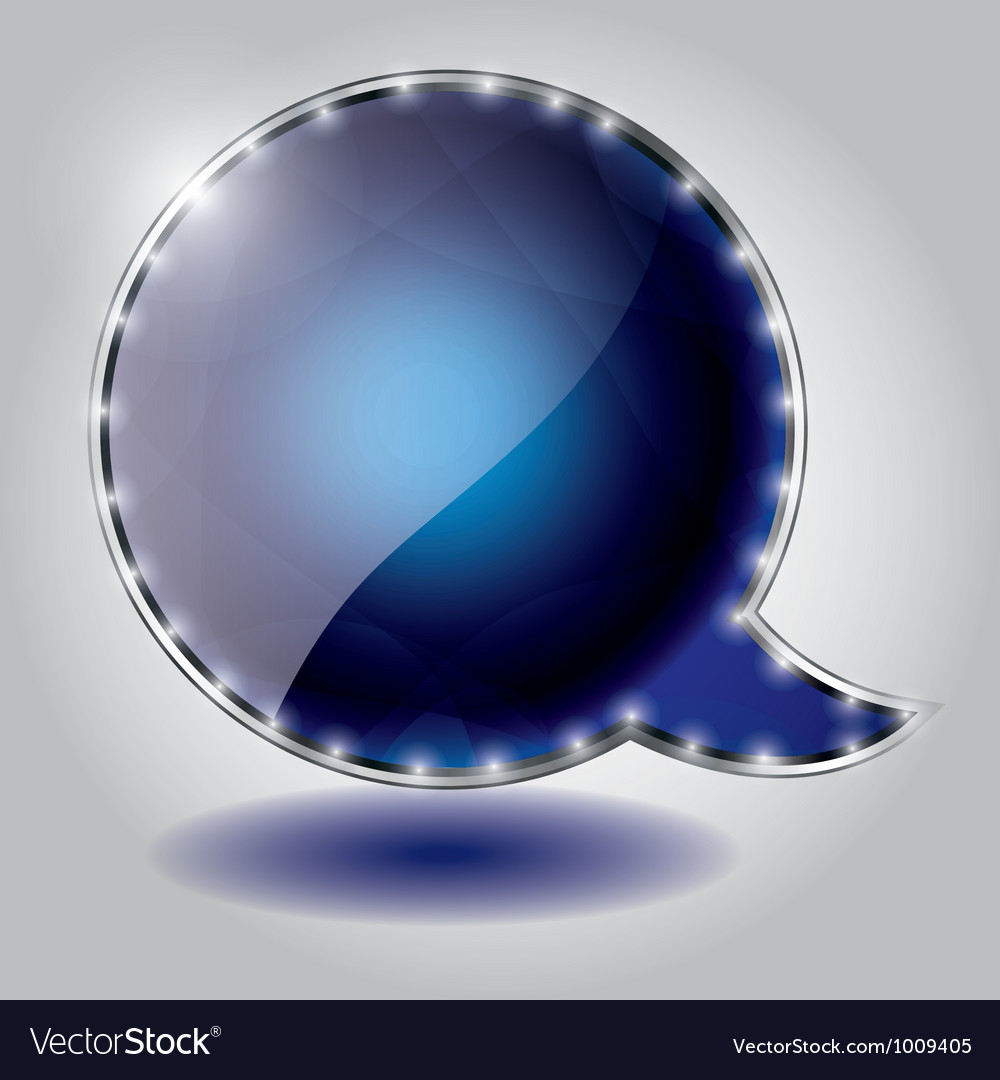 Abstract glossy speech bubble background