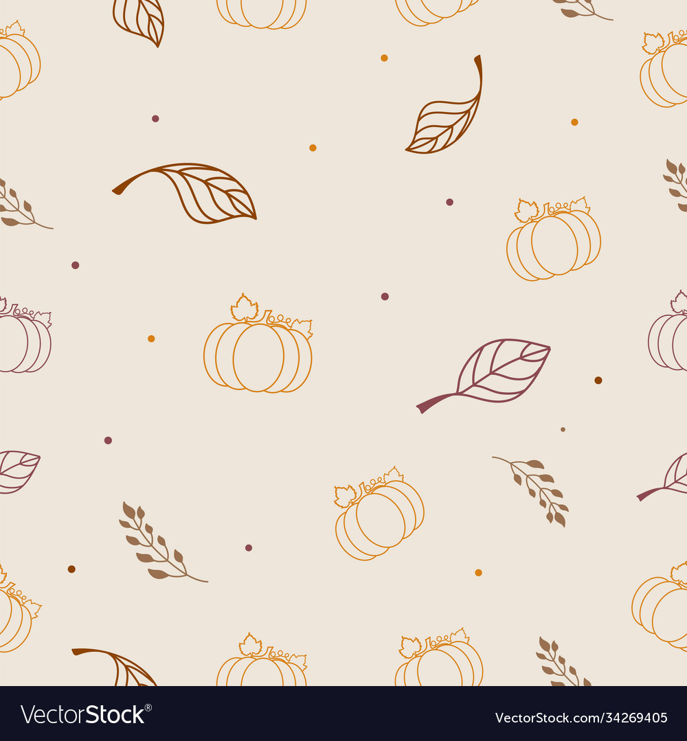 Autumn seamless wallpaper wrapping paper design