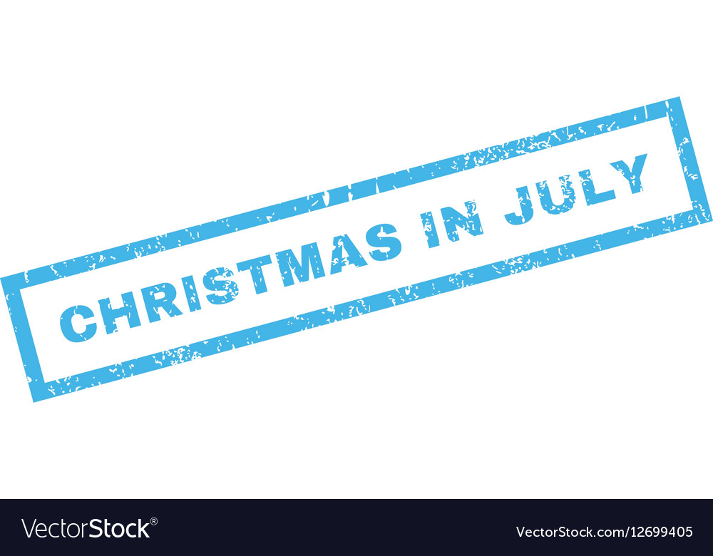 Christmas In July Royalty Free Images.Christmas In July Rubber Stamp