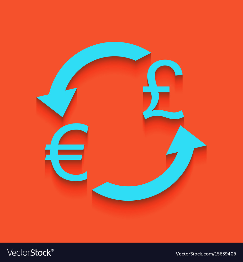 Currency Exchange Sign Euro And Uk Pound Vector Image