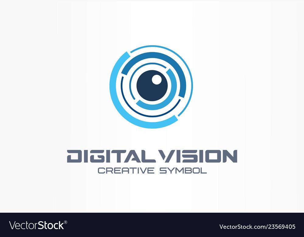 Digital vision creative symbol concept eye iris