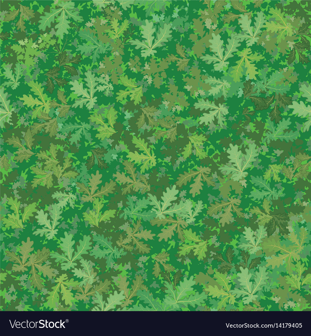 Seamless background oak leaves vector image