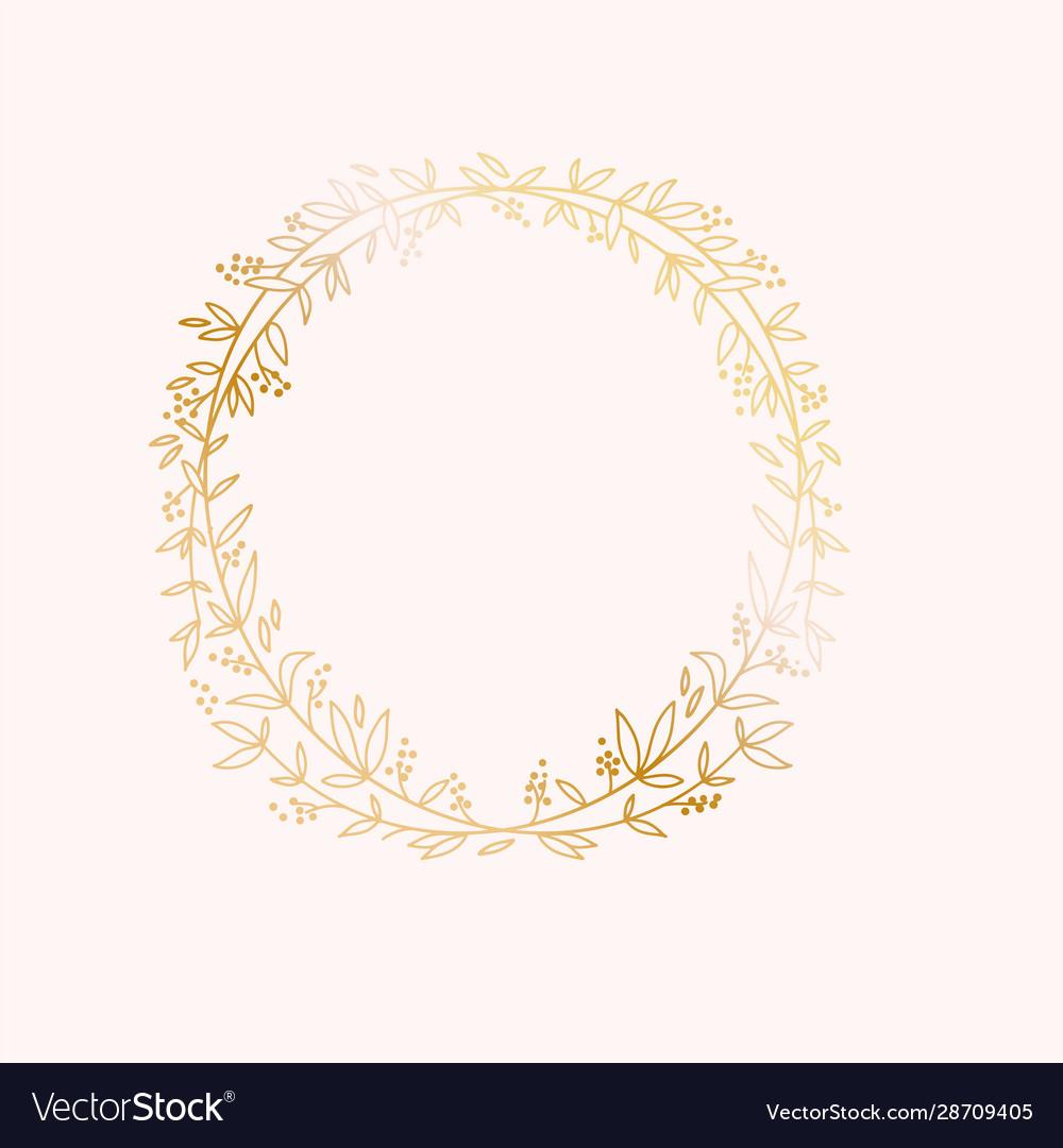 Wreath border frame wedding marriage event