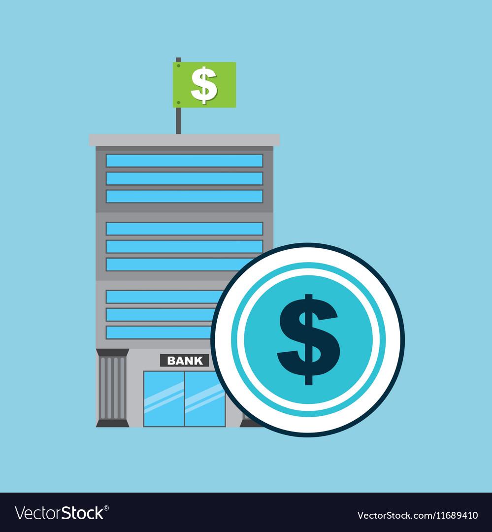 Bank concept service money vector image