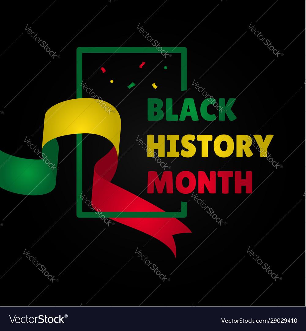 Black history month design for banner