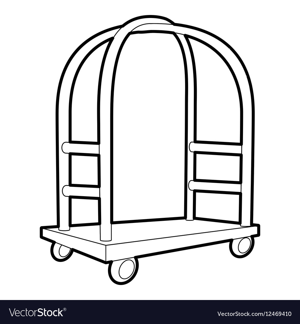 Cart in hotel icon outline style