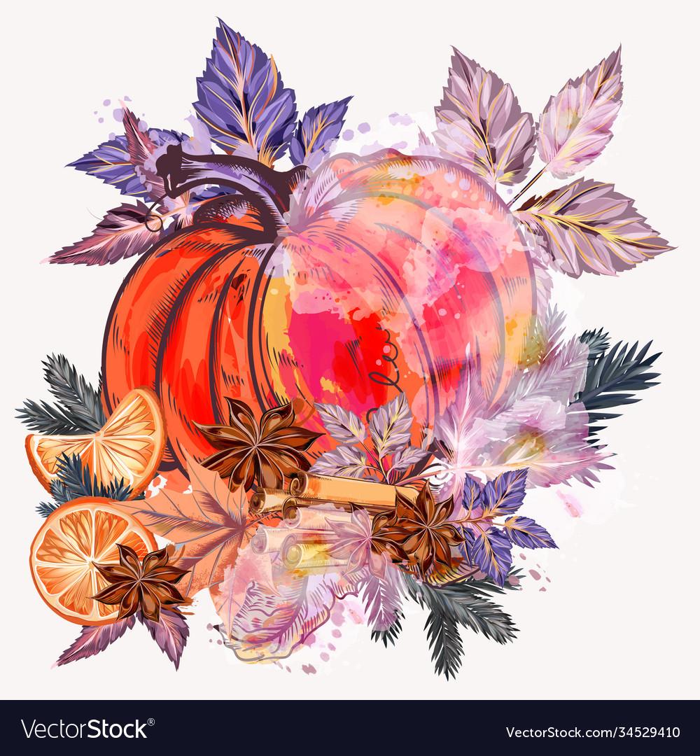 Christmas pumpkin with anise stars