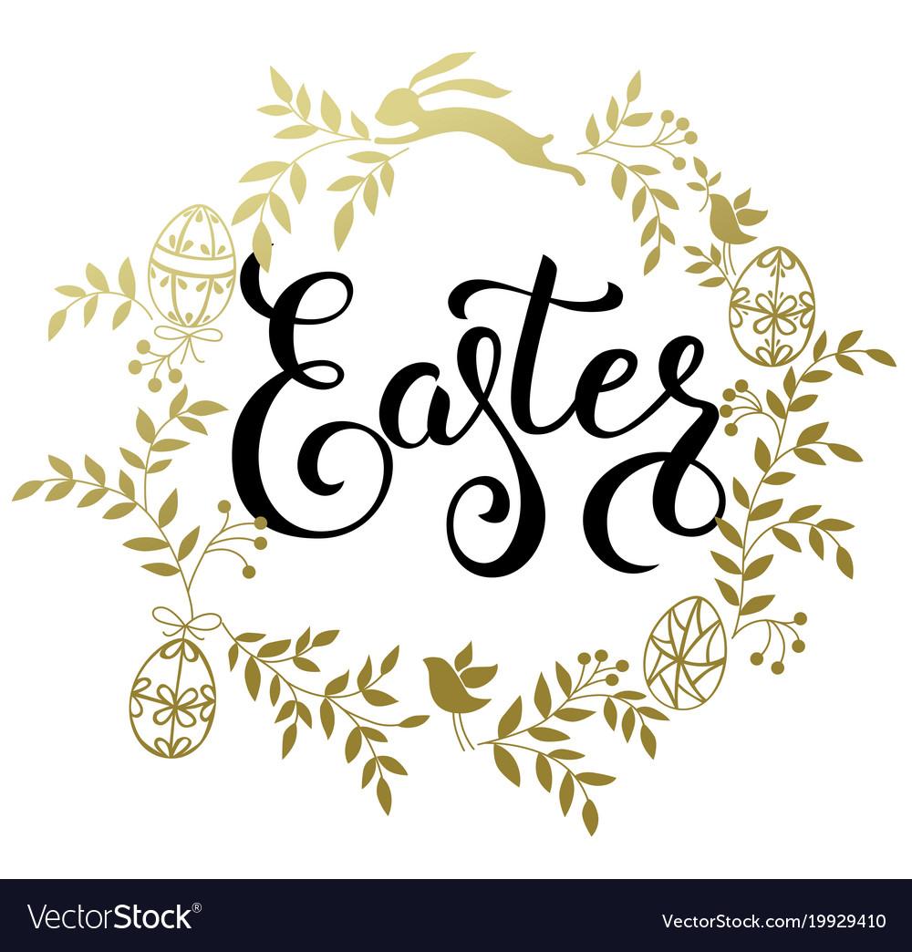 Easter handwritten calligraphic