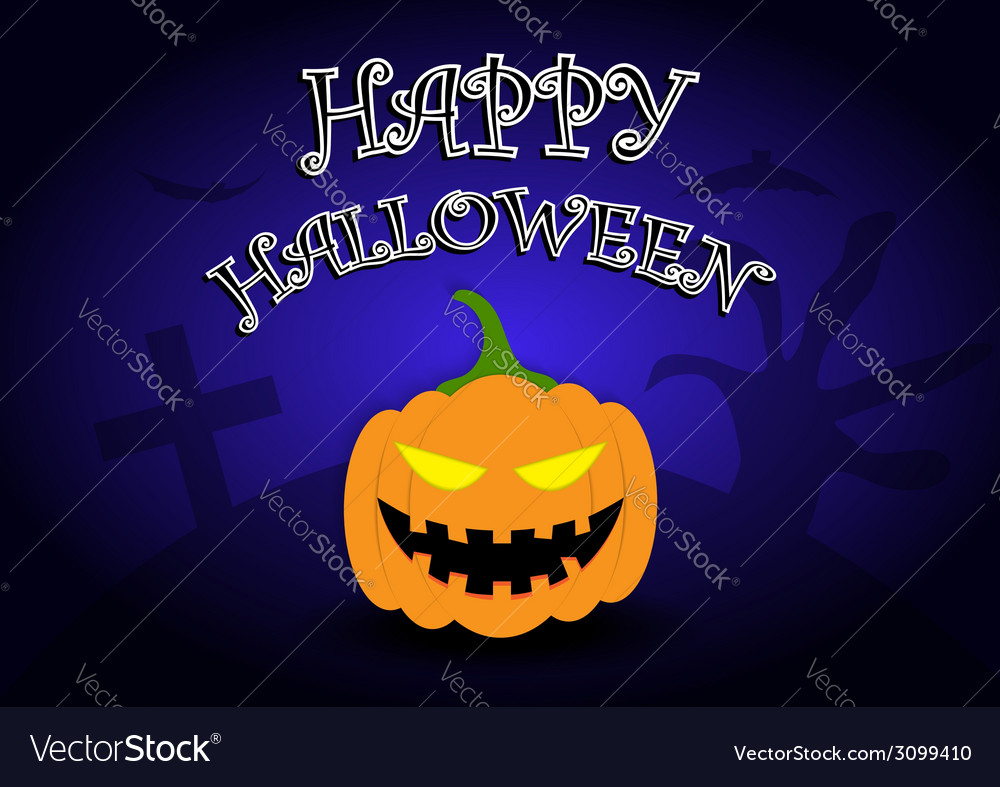 Halloween background with pumpkin head
