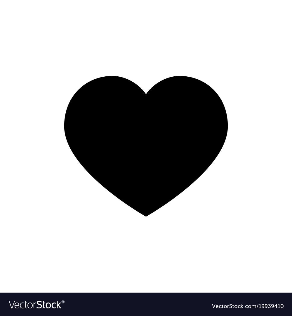 Heart Icon Love Symbol Valentine S Day Sign Vector Image