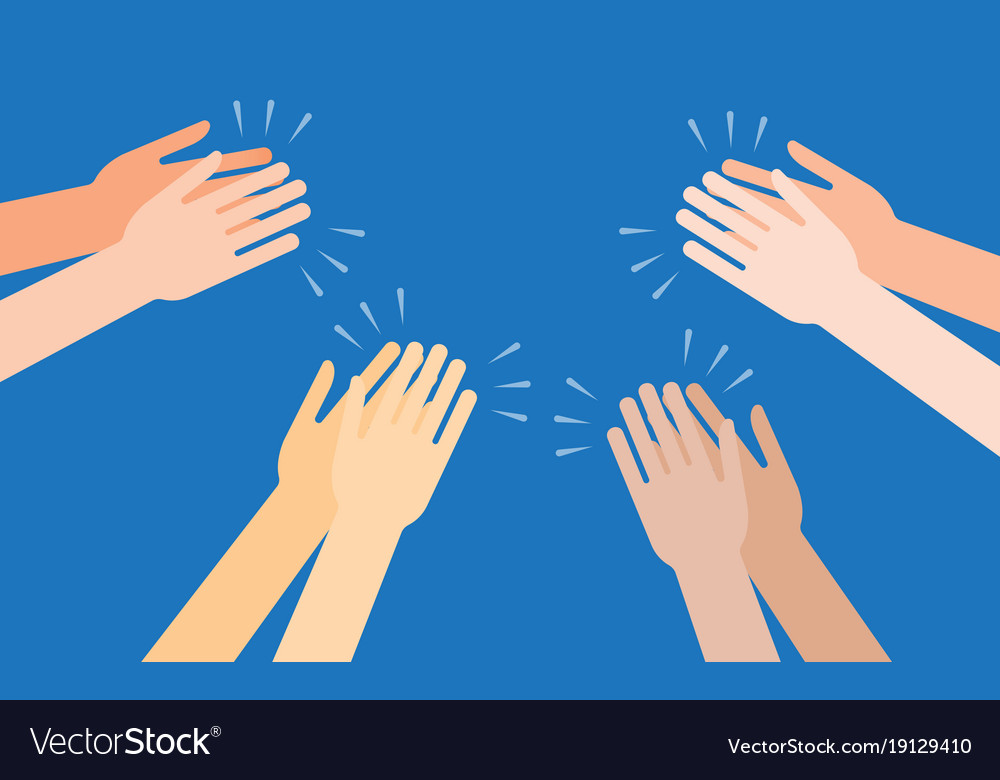 human hands clapping ovation royalty free vector image