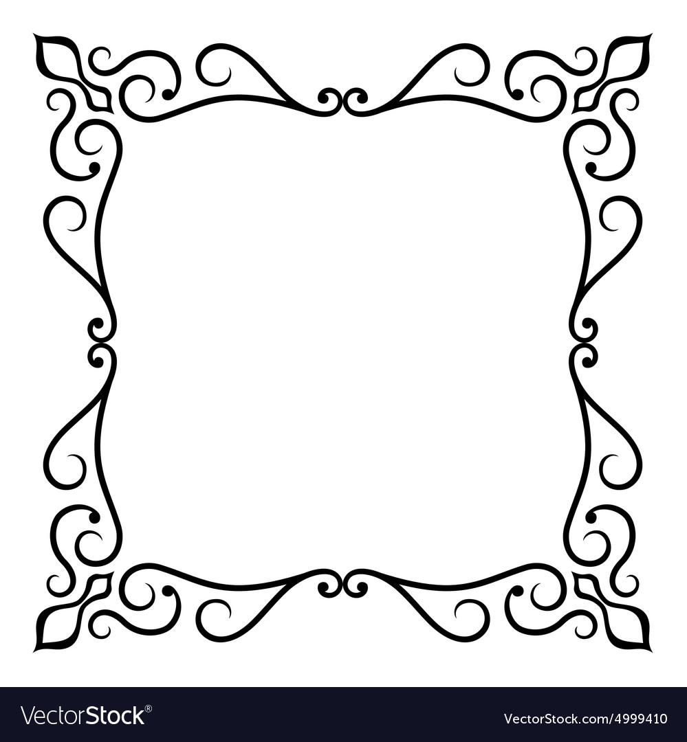 Ornate frame Royalty Free Vector Image - VectorStock