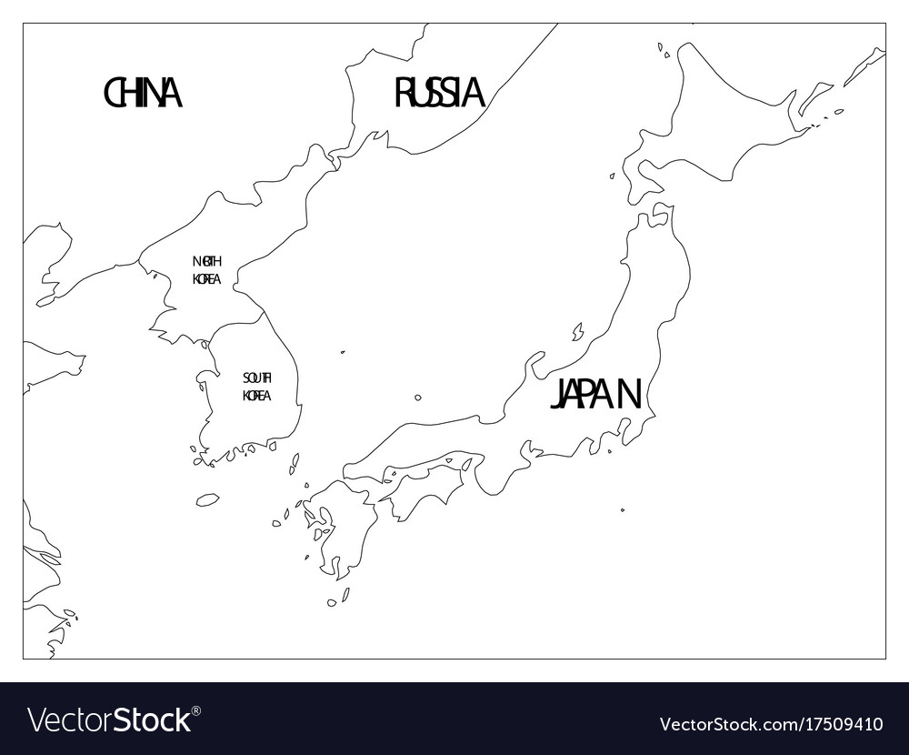 Political Map Of Korean And Japanese Region South Vector Image