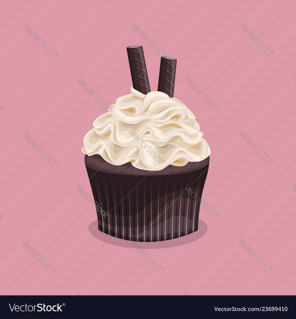 Sweet colorful dessert on a pink background