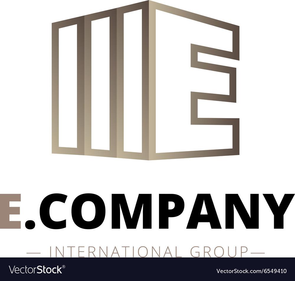 Trendy isometric E letter logo