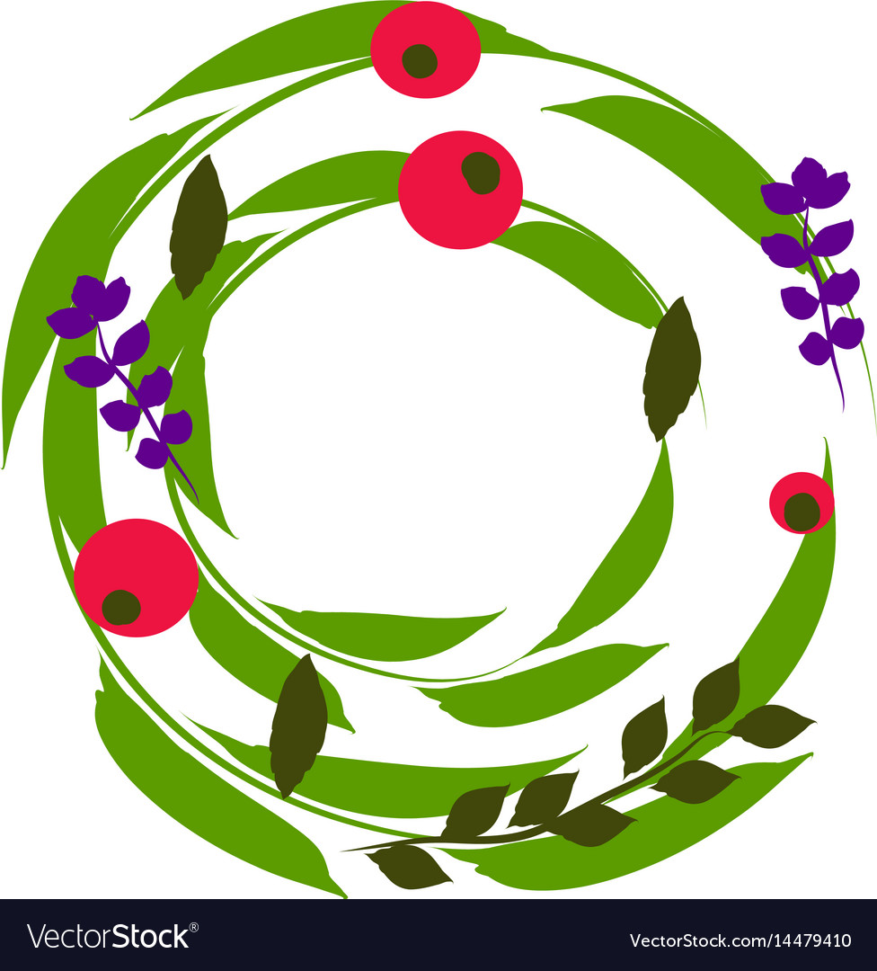 Wreath perfect for invitations greeting cards