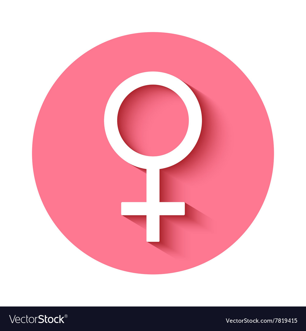 female gender symbol icon royalty free vector image vectorstock