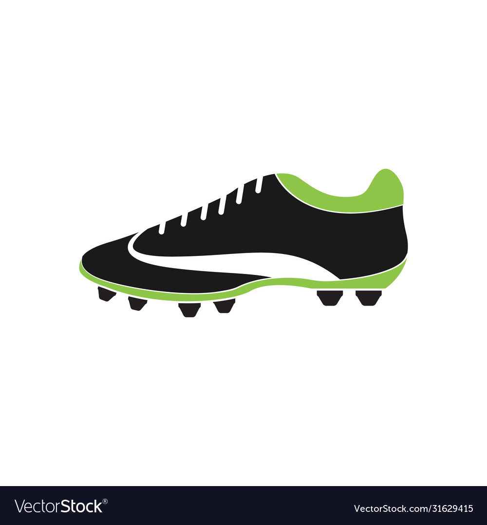 Football shoe graphic design template isolated