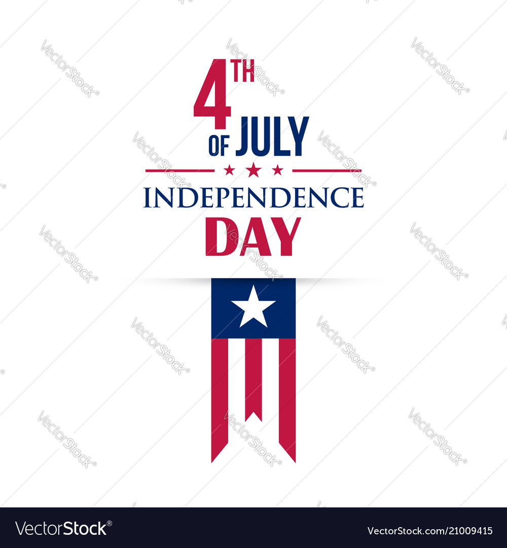 Fourth of july greeting card happy independence