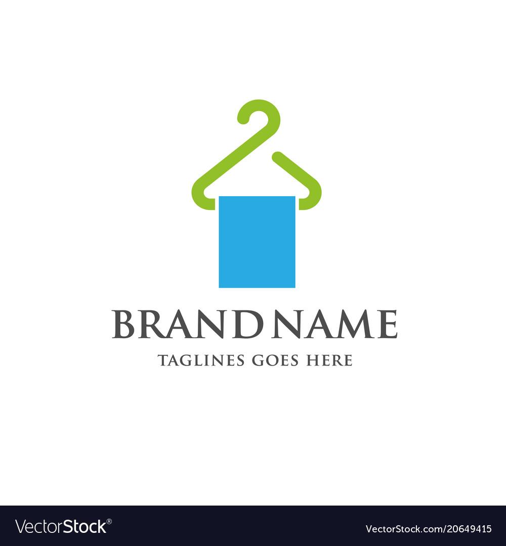 Hanger and cloth line logo