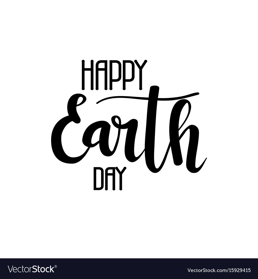 Happy earth day calligraphy