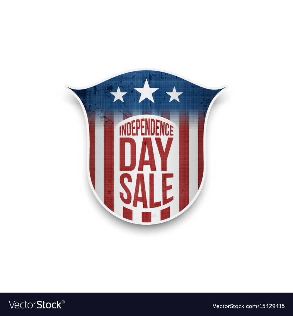 Independence day sale star-striped badge