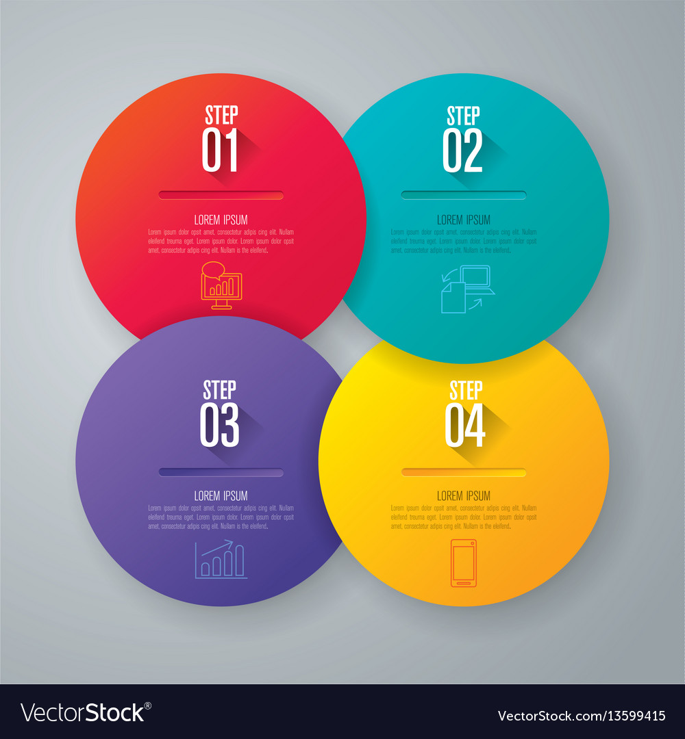 Infographics design with 4 step