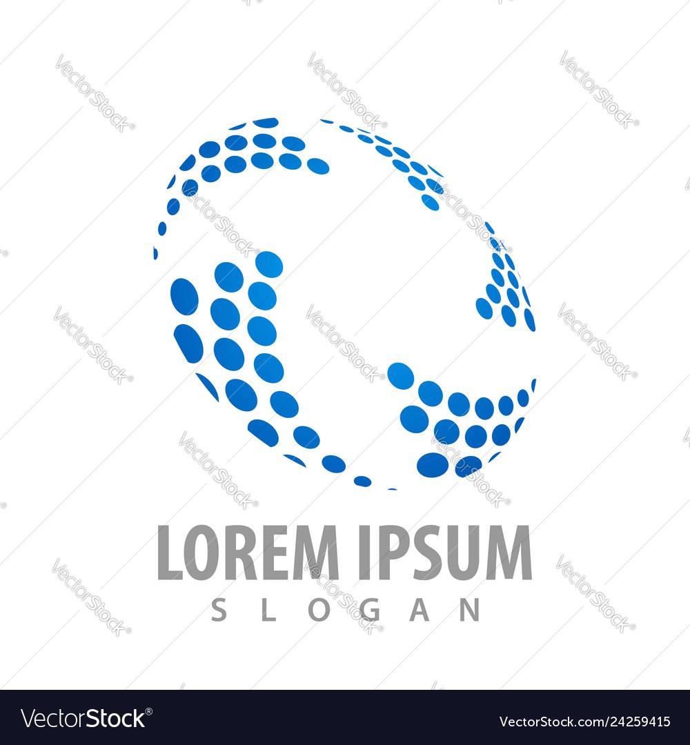 Pictograph of dot geometric pattern logo concept