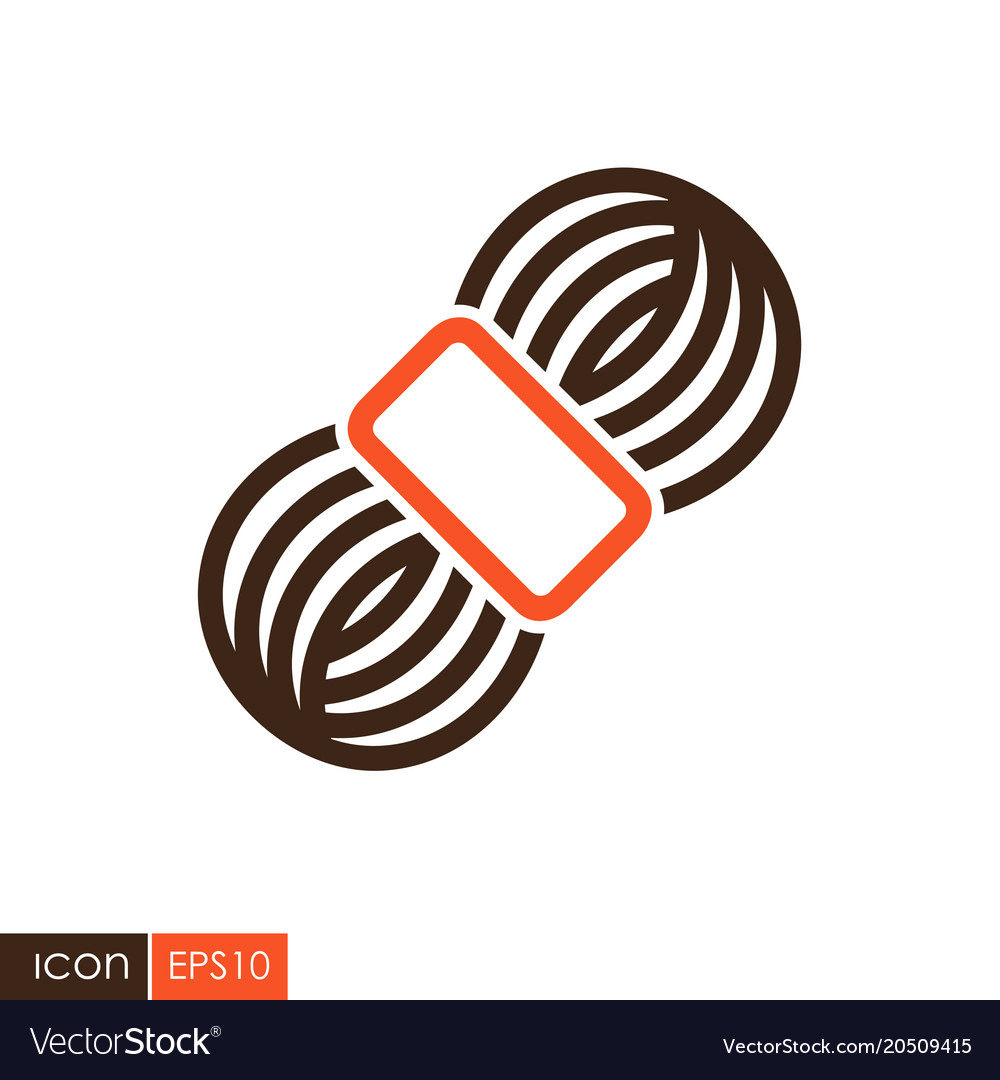 Roll of yarn icon Vector Image