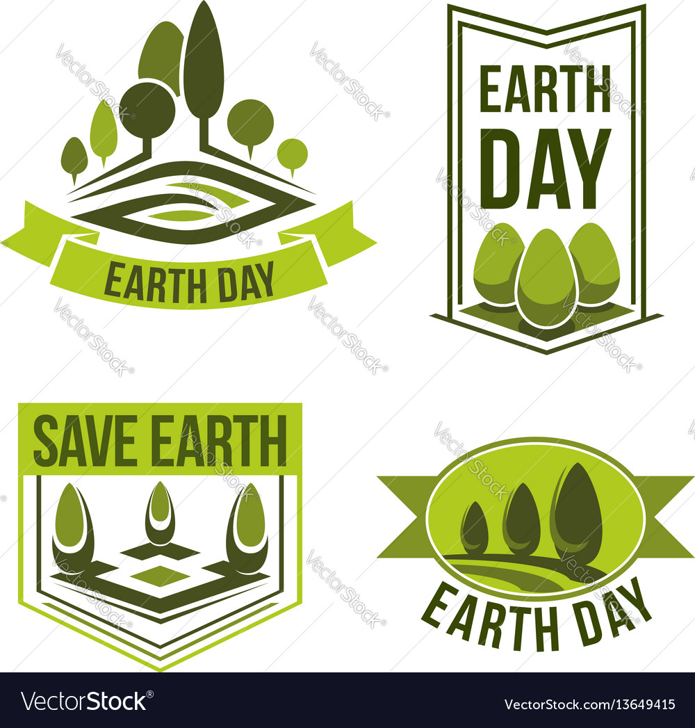 Save planet earth day green ecology icons