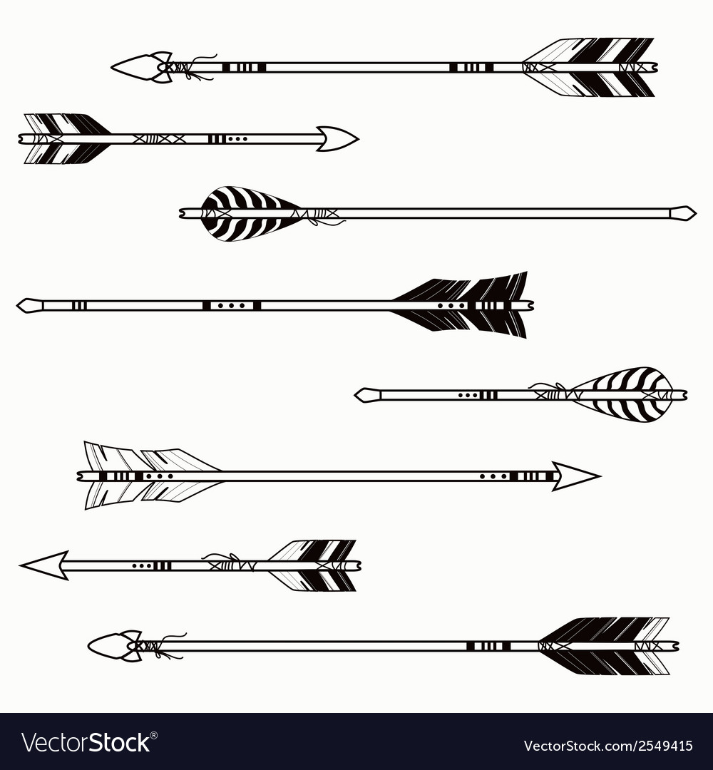 Set ethnic arrows