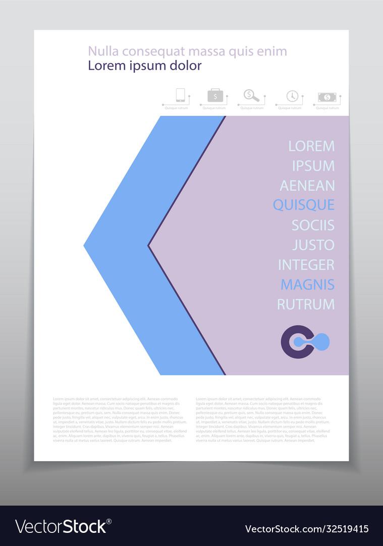 Template design layout brochure geometric