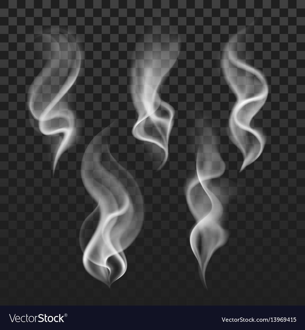 Transparent steam cigarette smoke waves fog