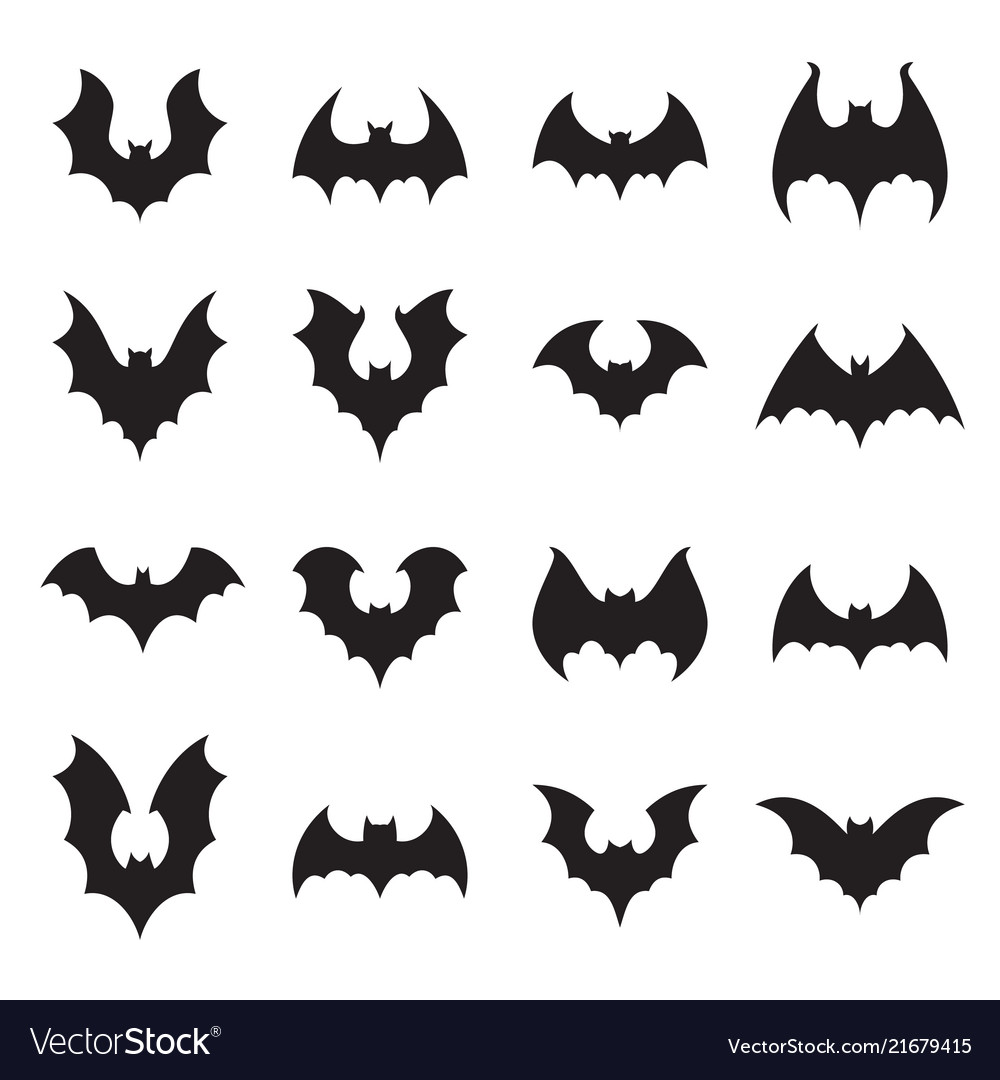 vampire bat silhouette halloween bats decoration vector image