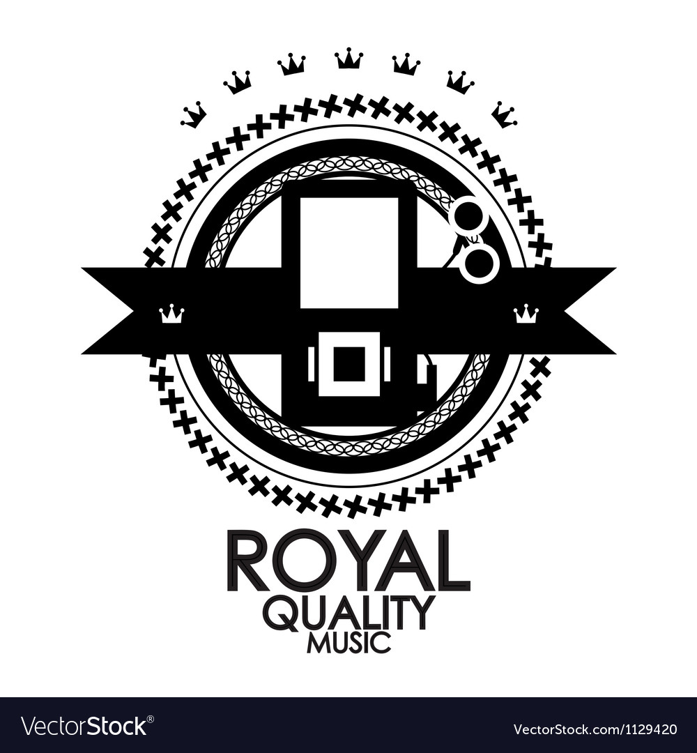 Black retro vintage label tag badge royal vector image