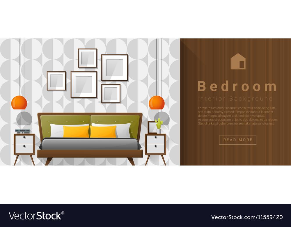Interior Design Modern Bedroom Background 5 Vector Image