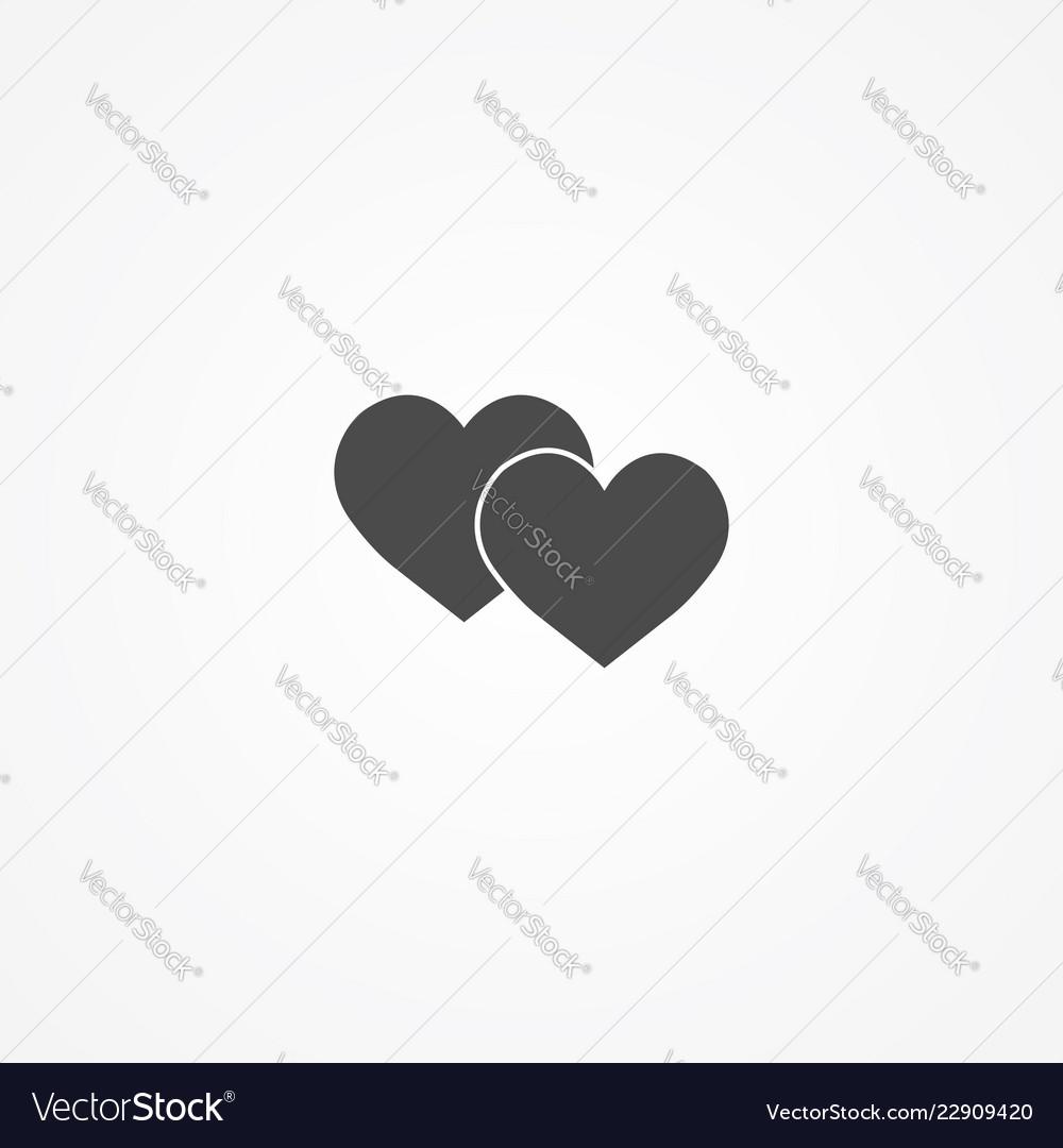 Love icon sign symbol