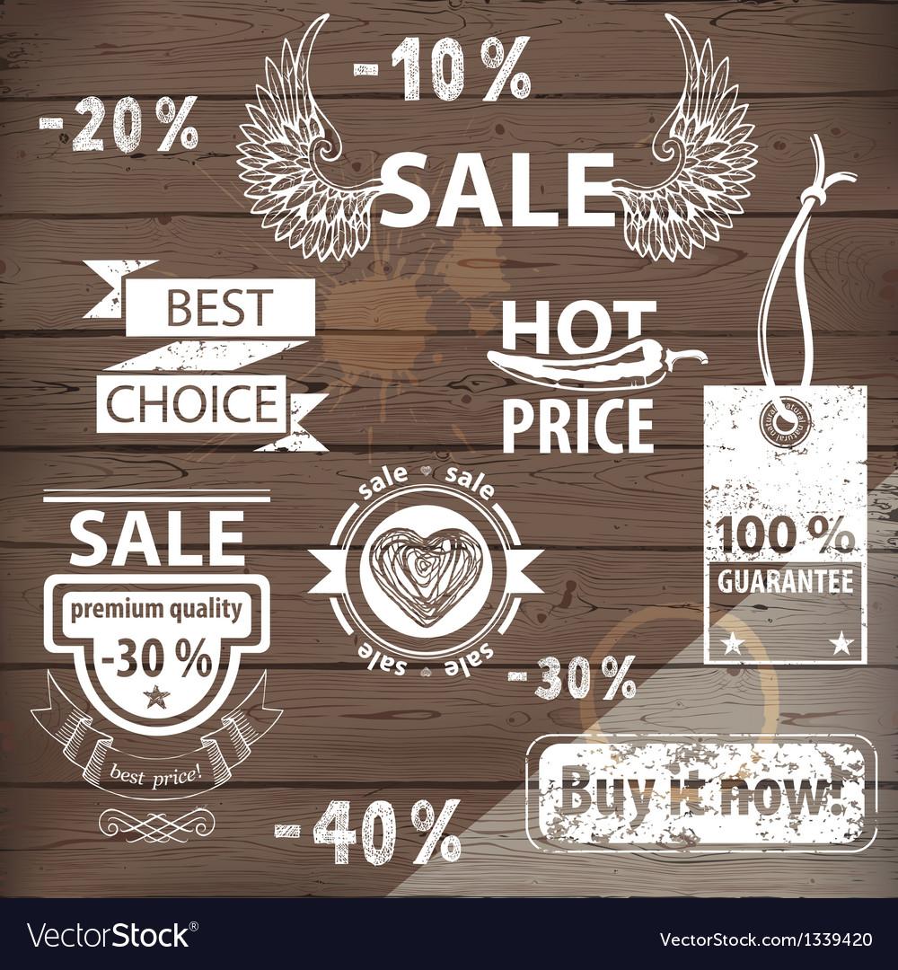 Sale emblems vector image