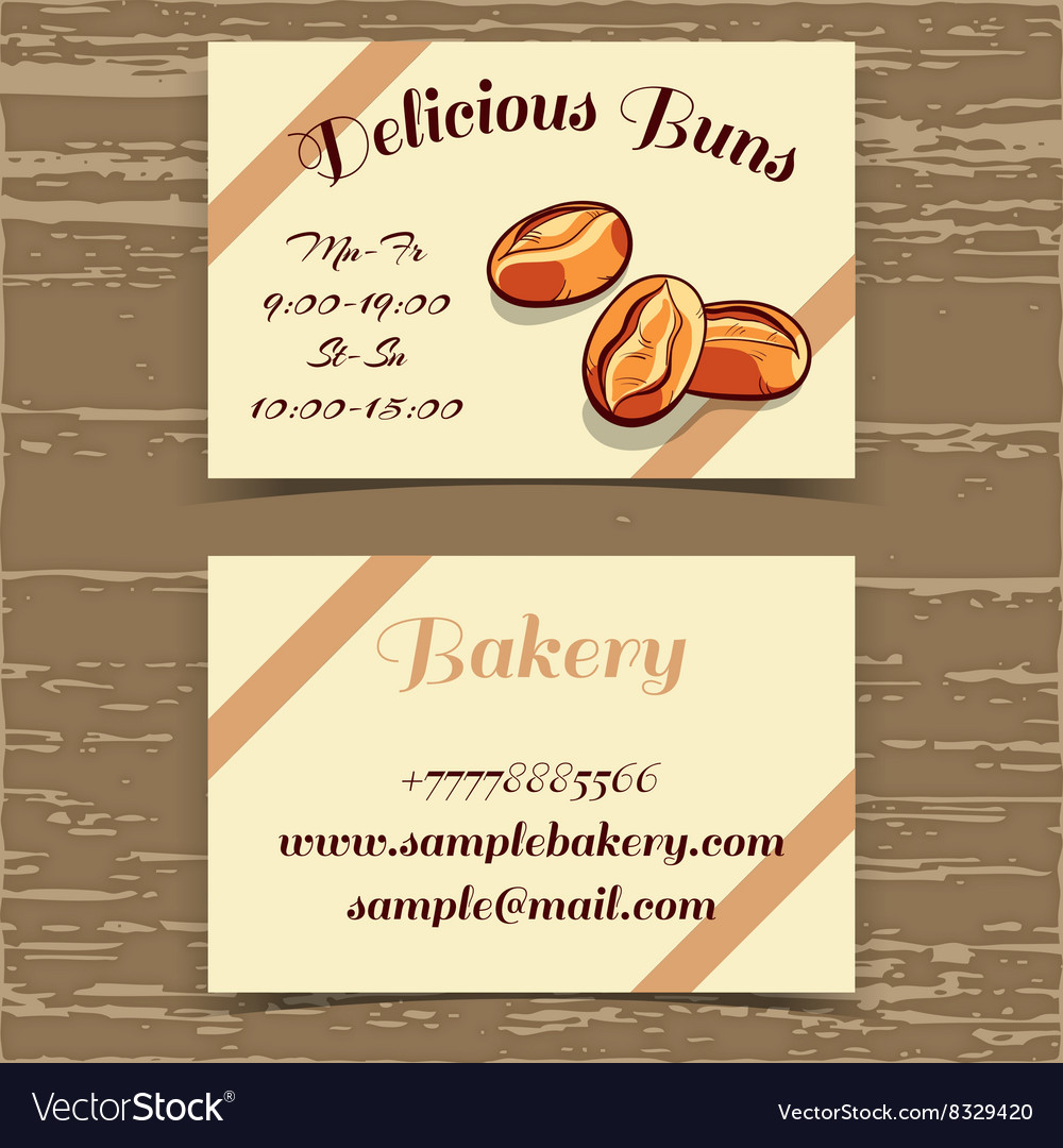 Template Business Card Bakery Royalty Free Vector Image
