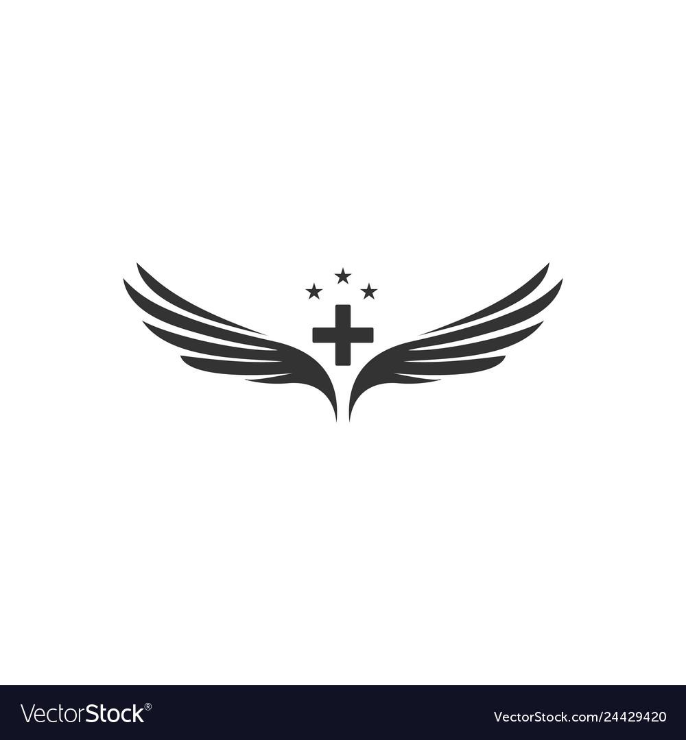 Wings and medicine symbol designs