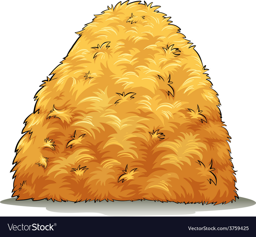 An image showing a haystack vector image