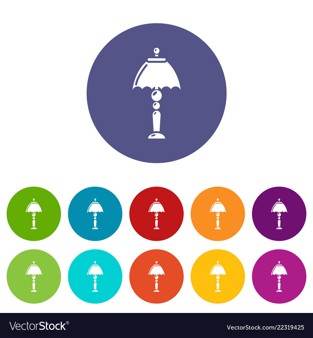 Bedroom lamp icon simple style