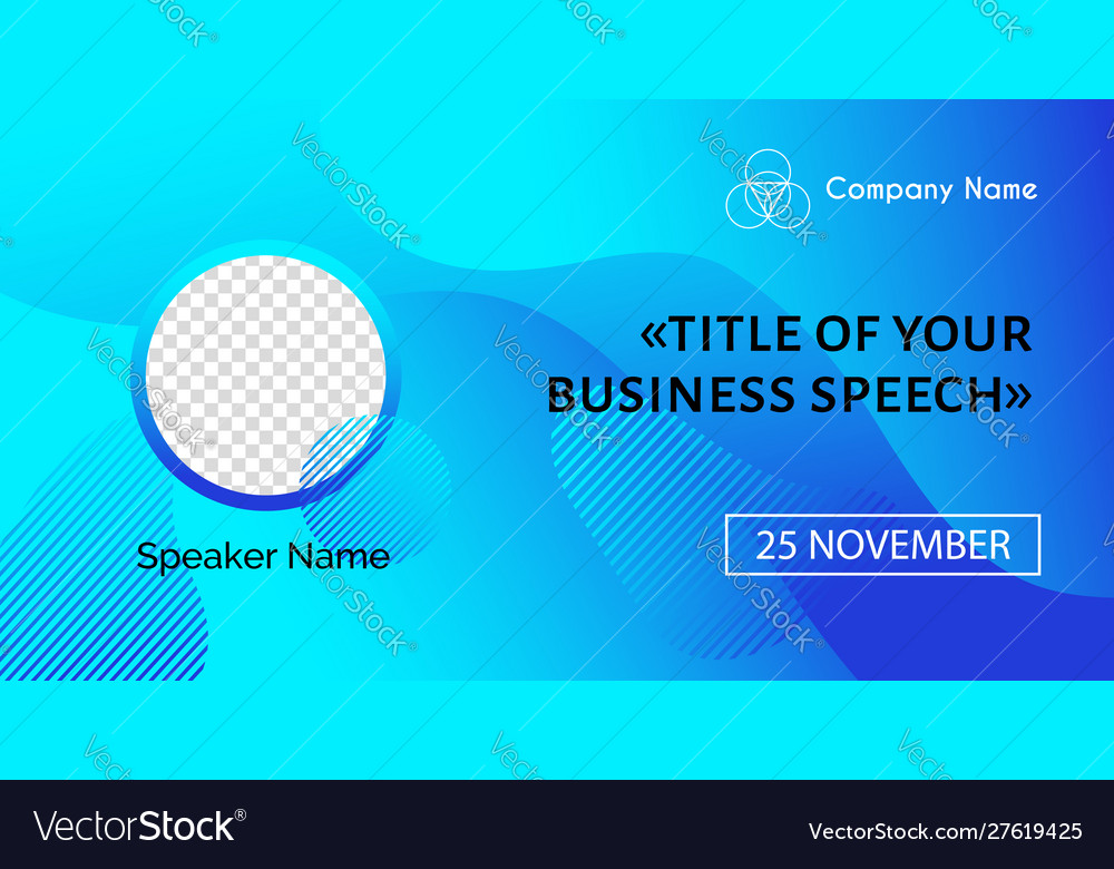 Business conference template abstract blue