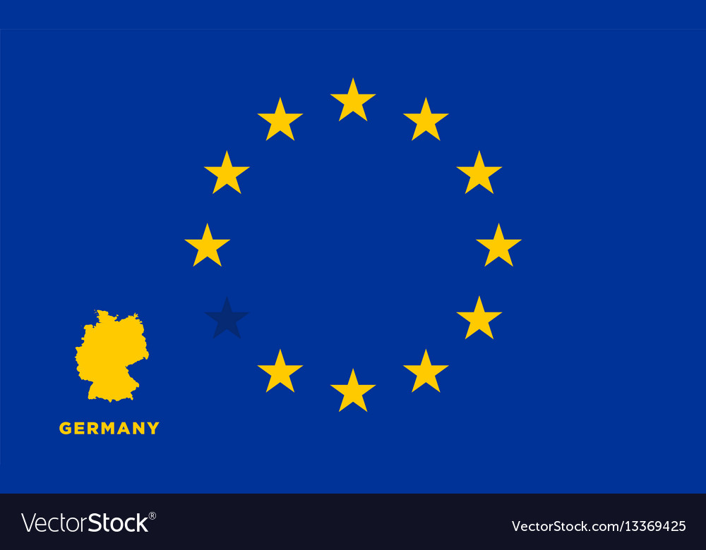 Eu flag with germany country european union
