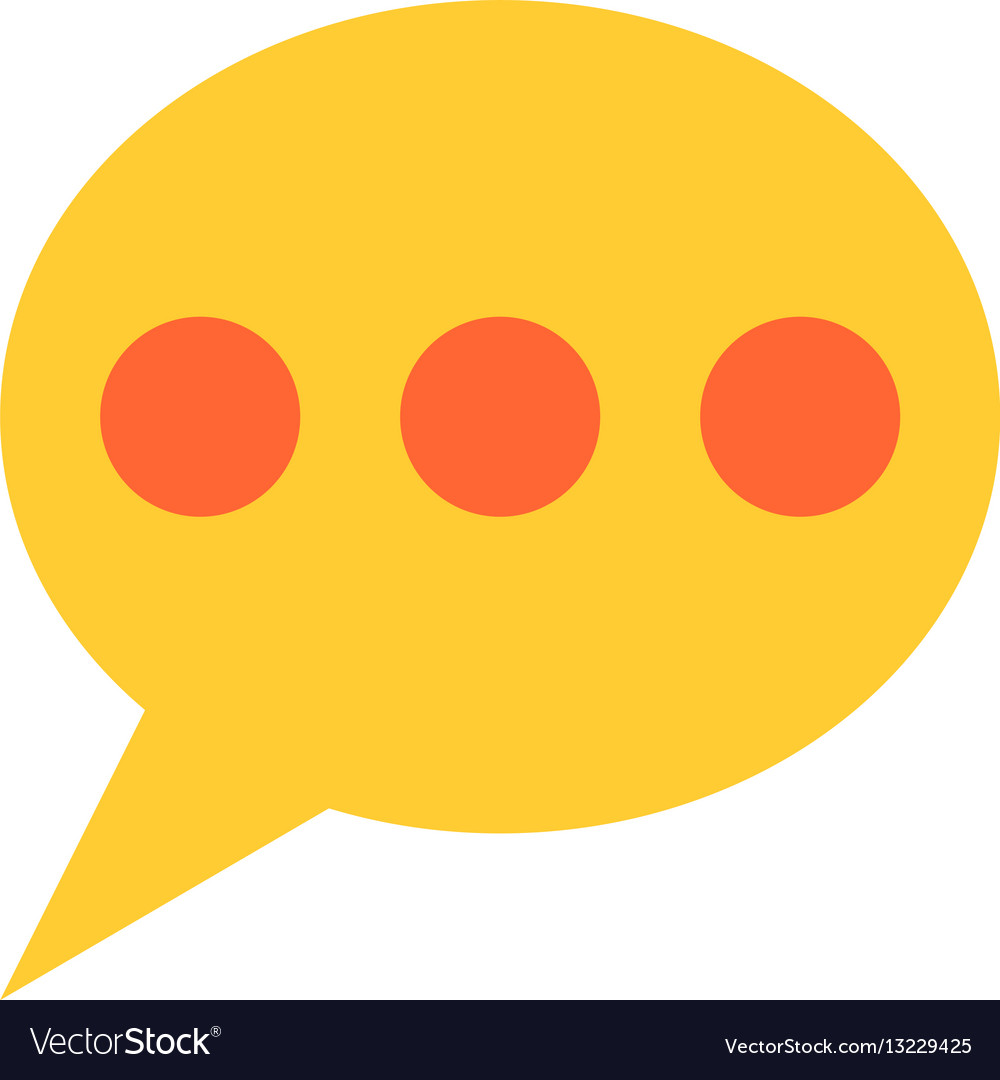 Flat speech bubble icon chat room sign button